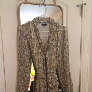 Anthropologie snake-printed dress. Size SM.